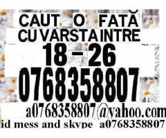 a0768358807 id mess suflettbun Caut o fata