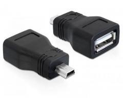 Adaptor USB 2.0-A mama> mini USB tata - 65277
