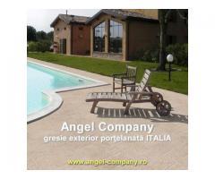 Gresie exterior interior portelanata din Italie