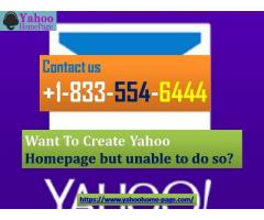 Want To Create Yahoo Homepage but unable to do so?